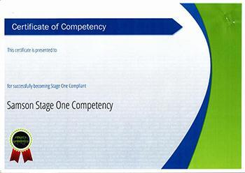 Samson Stage One Competency